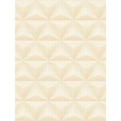 Papier peint à motif Origami triangle et pois beige/pêche - GRANDECO