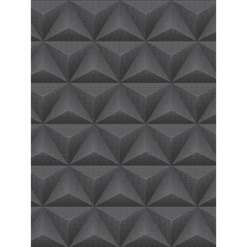 Papier peint à motif Origami triangle et pois noir - GRANDECO