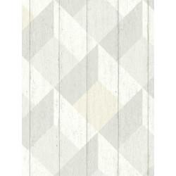 Papier peint à motif Cubes gris beige pastel - GRANDECO