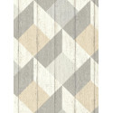 Papier peint à motif Cubes taupe beige pastel - Collection UNPLUGGED - GRANDECO