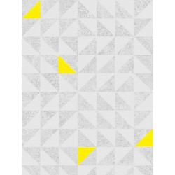 Papier peint Fluo triangles gris/jaune. Graham & Brown