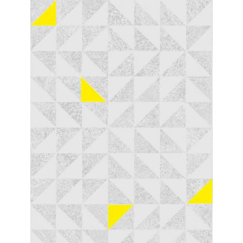 Papier peint Fluo triangles gris/jaune. Graham & Brown