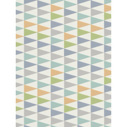 Papier peint Triangles, pastel bleu, scandinave. Rasch