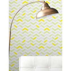 Papier peint Chevrons Ananas. Graham & Brown