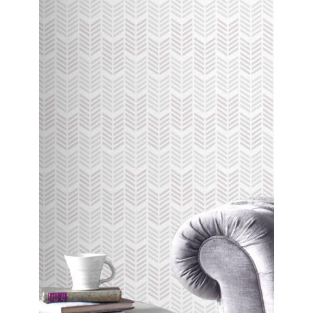 papier peint fluo oiti chevrons gris mauve graham brown. Black Bedroom Furniture Sets. Home Design Ideas