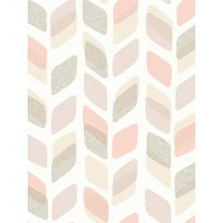 Papier peint à motif Retro Pastel beige/rose - GRANDECO