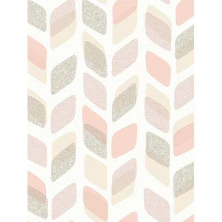 Papier peint à motif Retro Pastel beige/rose - Collection UNPLUGGED - GRANDECO