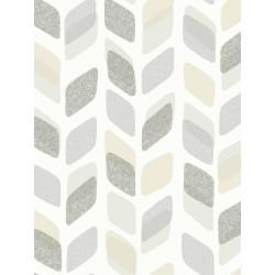 Papier peint à motif Retro Pastel gris/bleu - Collection UNPLUGGED - GRANDECO