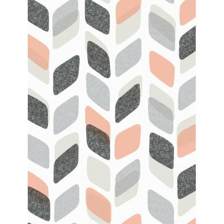 Papier peint à motif Retro orange/bleu - GRANDECO