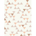 Papier peint à motif triangle vieux rose scandinave - Collection UNPLUGGED - GRANDECO