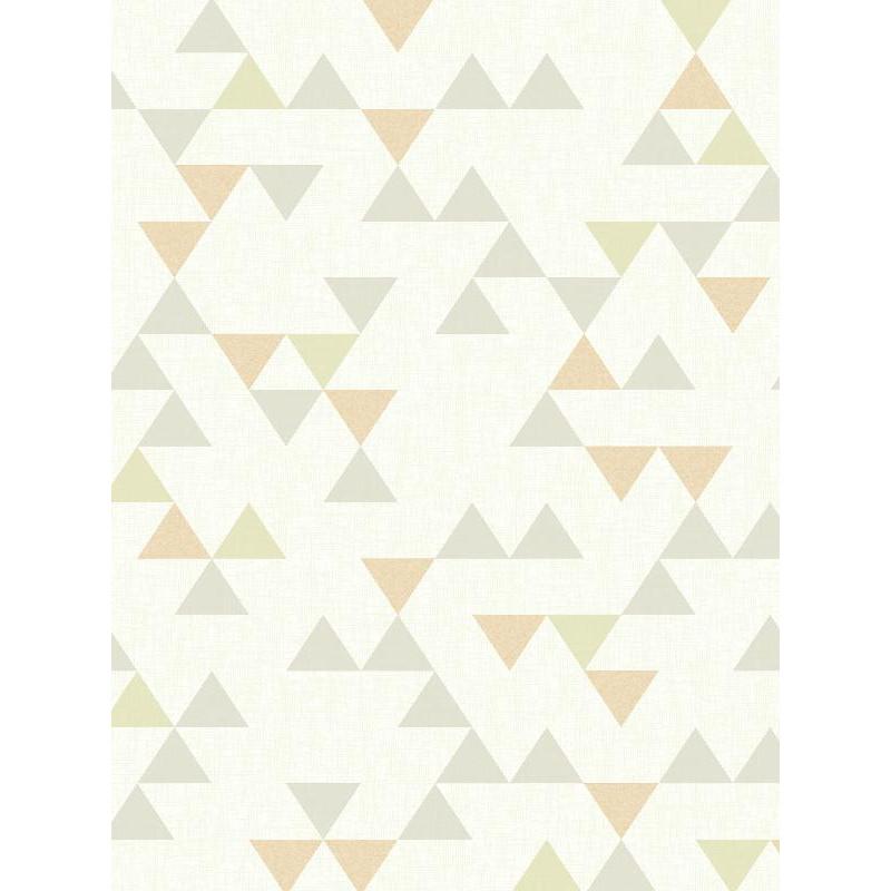Papier peint à motif triangle pastel gris scandinave - GRANDECO
