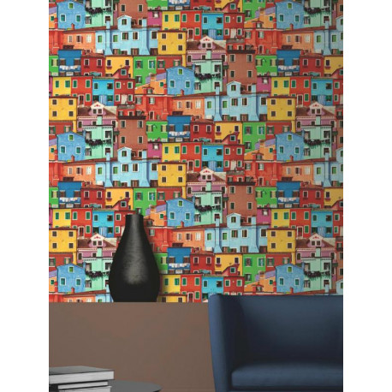 Papier peint photo Maisons Colorées - Muriva - Ugepa