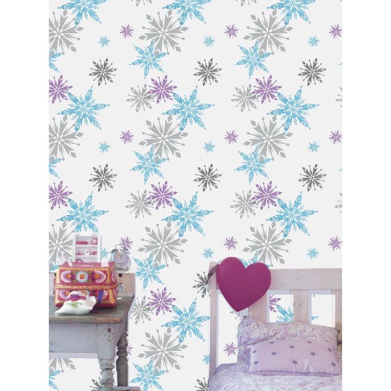 Papier peint Flocons de neige - Reine des Neiges - Graham & Brown