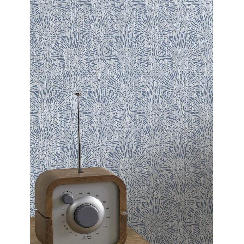 Papier peint floral Cupi bleu. Graham & Brown