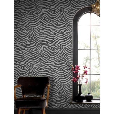 Papier peint Zebra blanc/noir, animal. Graham & Brown