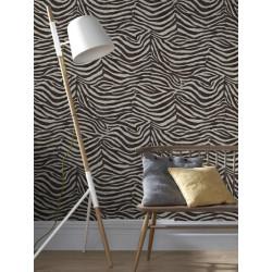 Papier peint Zebra Marron/Beige. Graham & Brown