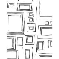 Papier peint Frames, cadres noir et blanc à colorier. Graham & Brown