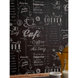 Papier peint Coffee Shop noir et blanc. Graham & Brown