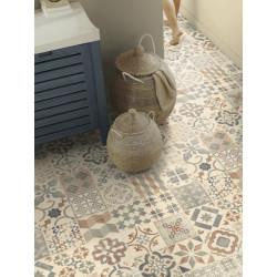 Revêtement PVC - Largeur 4m - Exclusive 240 HAPPY SHAPES - Tarkett - Effet carrelage retro - Almeria Natural