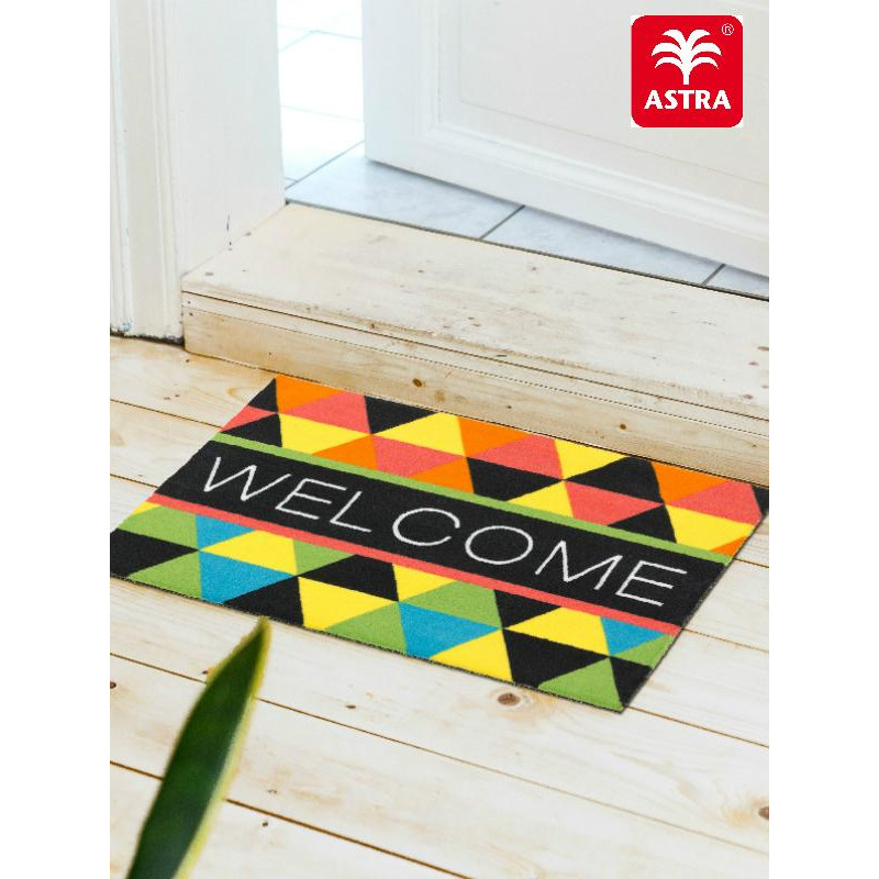 Tapis A Triangles Multicolores : Paillasson cm astra young star triangles multicolores