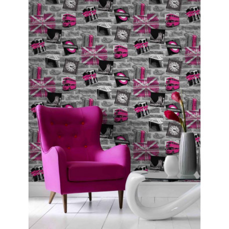 papier peint london tag rose graham brown. Black Bedroom Furniture Sets. Home Design Ideas