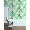 Papier peint tropical Elle Junger Fever vert. Graham & Brown
