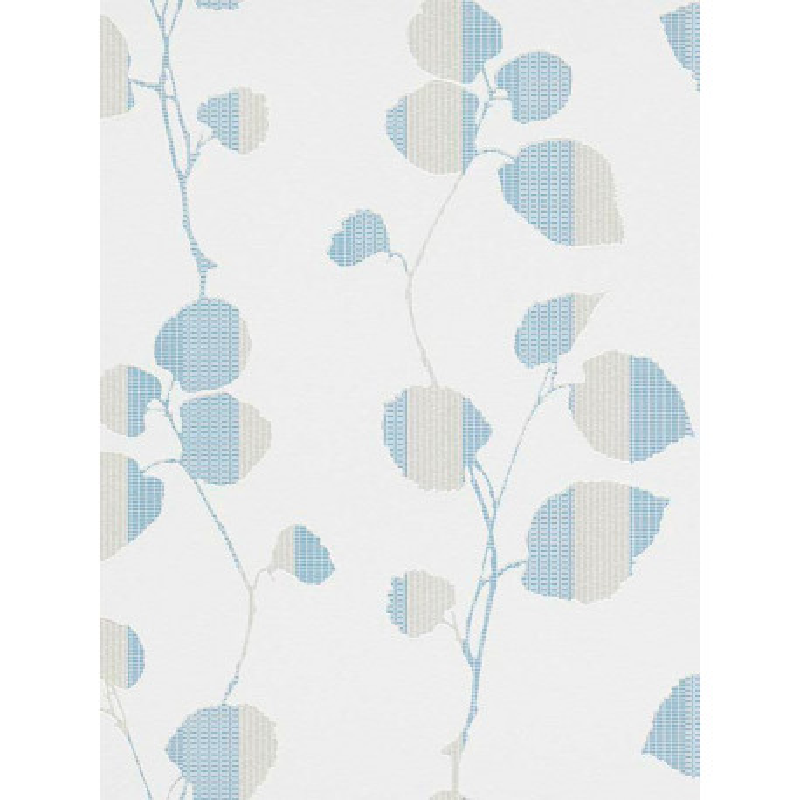 Papier peint fleuri bleu. Erismann Summer Breeze.