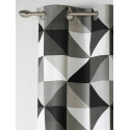 Rideau prêt-à-poser à motif triangles noir gris et blanc - Art of Life