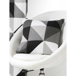 Coussin Triangles noir gris et blanc - Art of Life