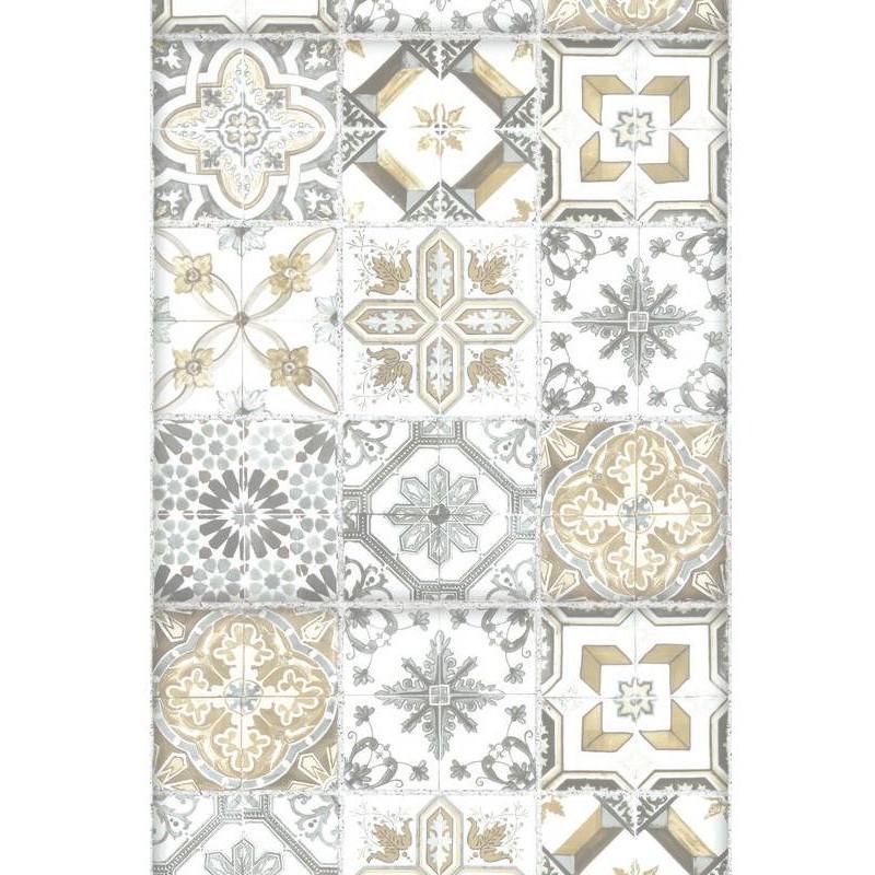 Panoramique carreaux de ciment beige bon app tit caselio - Papier peint carreau ciment ...