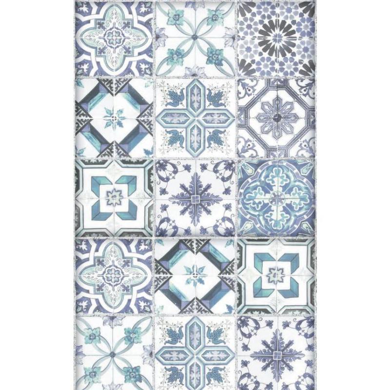 Lé unique Carreaux de ciment bleu - BON APPETIT - Caselio - BAP68506077