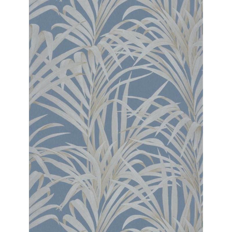 Papier peint Fougères bleu turquoise - LOUISE - Casadeco - LOU28926505