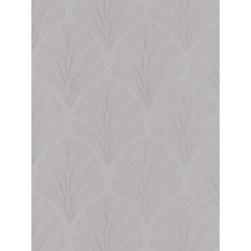 Papier peint Big Plumes taupe cuivre - LOUISE - Casadeco - LOU28911317