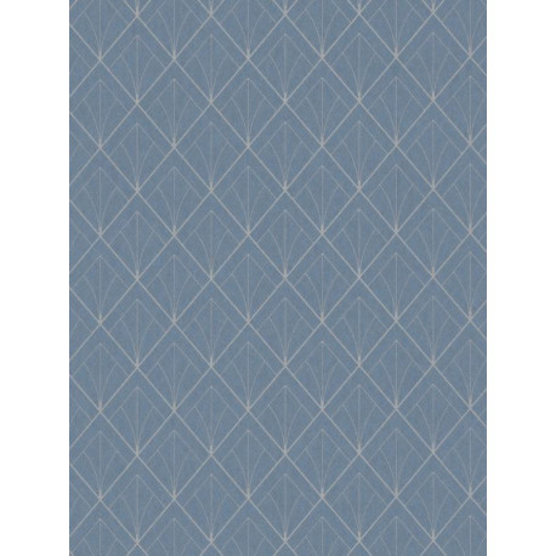 Papier peint Art Déco bleu turquoise - LOUISE - Casadeco - LOU28896523