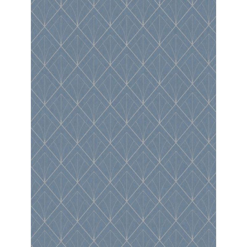 Papier peint Art déco bleu turquoise - LOUISE - Casadeco