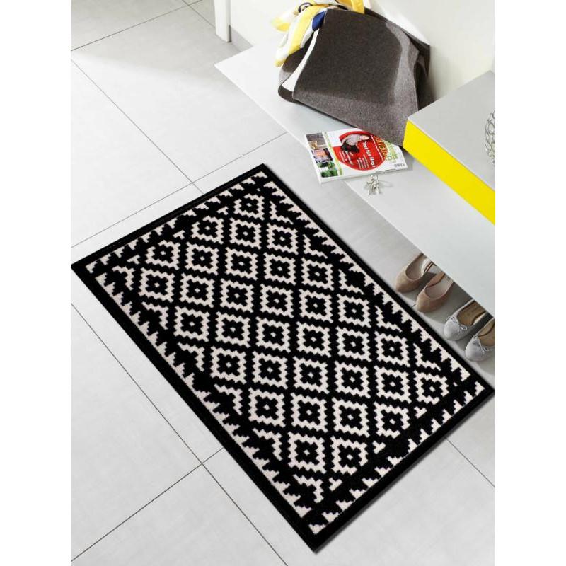 Tapis de propreté - paillasson Tabuk noir et blanc - EFIA
