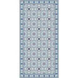 Tapis vinyle PVC - Azulejos bleu - 60x120cm