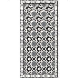 Tapis vinyle PVC - Vintage noir et blanc - 60x80cm