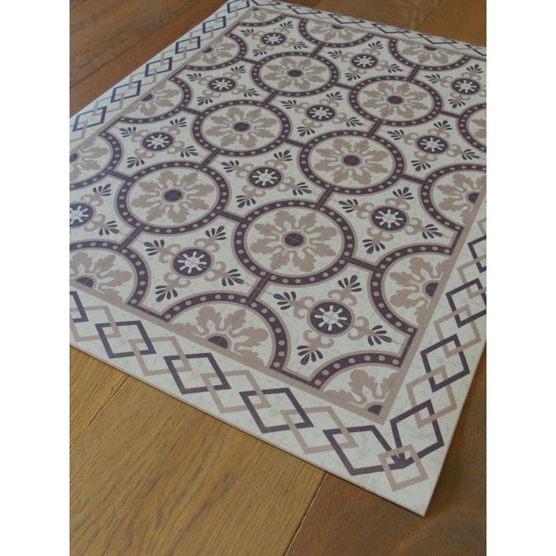 tapis vinyle pvc romantic beige 60x80cm. Black Bedroom Furniture Sets. Home Design Ideas