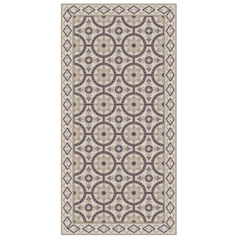 Tapis vinyle PVC - Romantic beige - 60x80cm