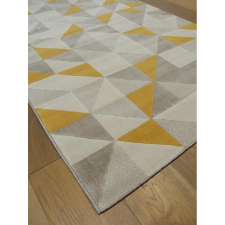 Tapis triangles scandinaves jaune et gris - Canvas -120x170cm