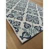 Tapis de cuisine long vintage bleu - STAR 80x200cm