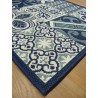 Tapis de cuisine long Carreaux de ciment bleu - STAR 80x200cm