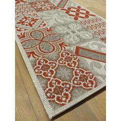 Tapis de cuisine long Carreaux de ciment rouge - STAR 80x200cm