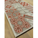 Tapis de cuisine long Carreaux de ciment rouge - STAR 80x200cm