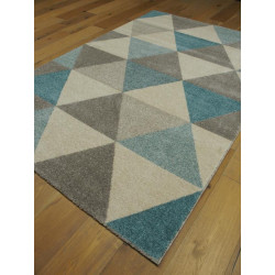 Tapis triangles bleu et gris ACCENT - Balta