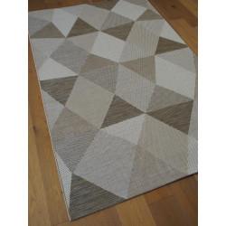 Tapis moderne greige gris, naturel sisal PRISMA