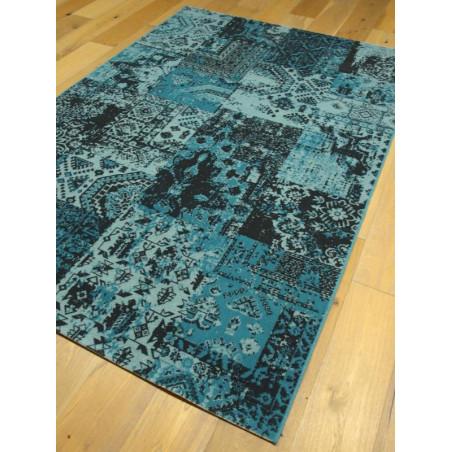 Tapis patchwork bleu - VINTAGE