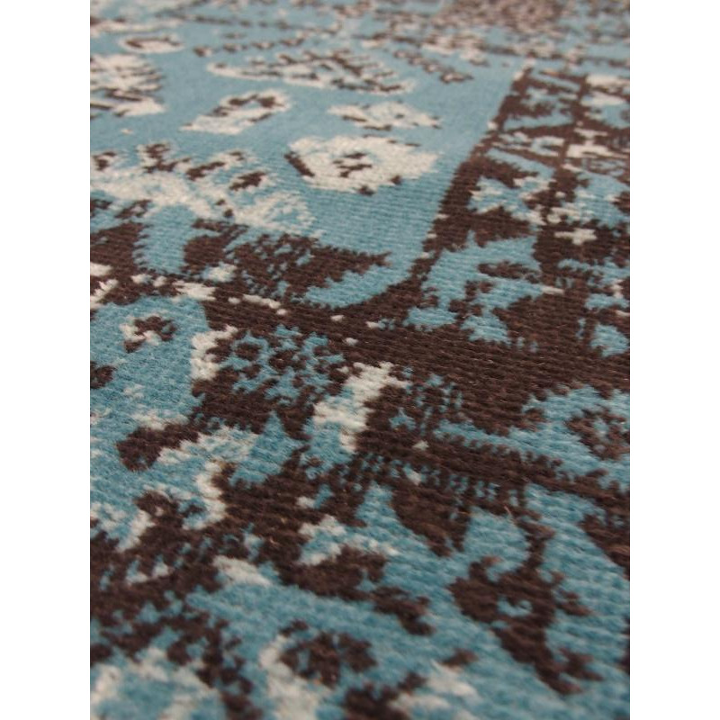 tapis patchwork bleu vintage. Black Bedroom Furniture Sets. Home Design Ideas