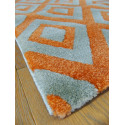 Tapis losanges orange et gris - OPTIMIST COSY